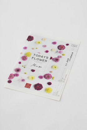 Mum TODAY'S FLOWER BOOKLET and POSTER for Aoyama Flower Market